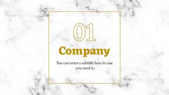 Plantilla de presentación Diseño elegante marmóreo para perfiles de empresa