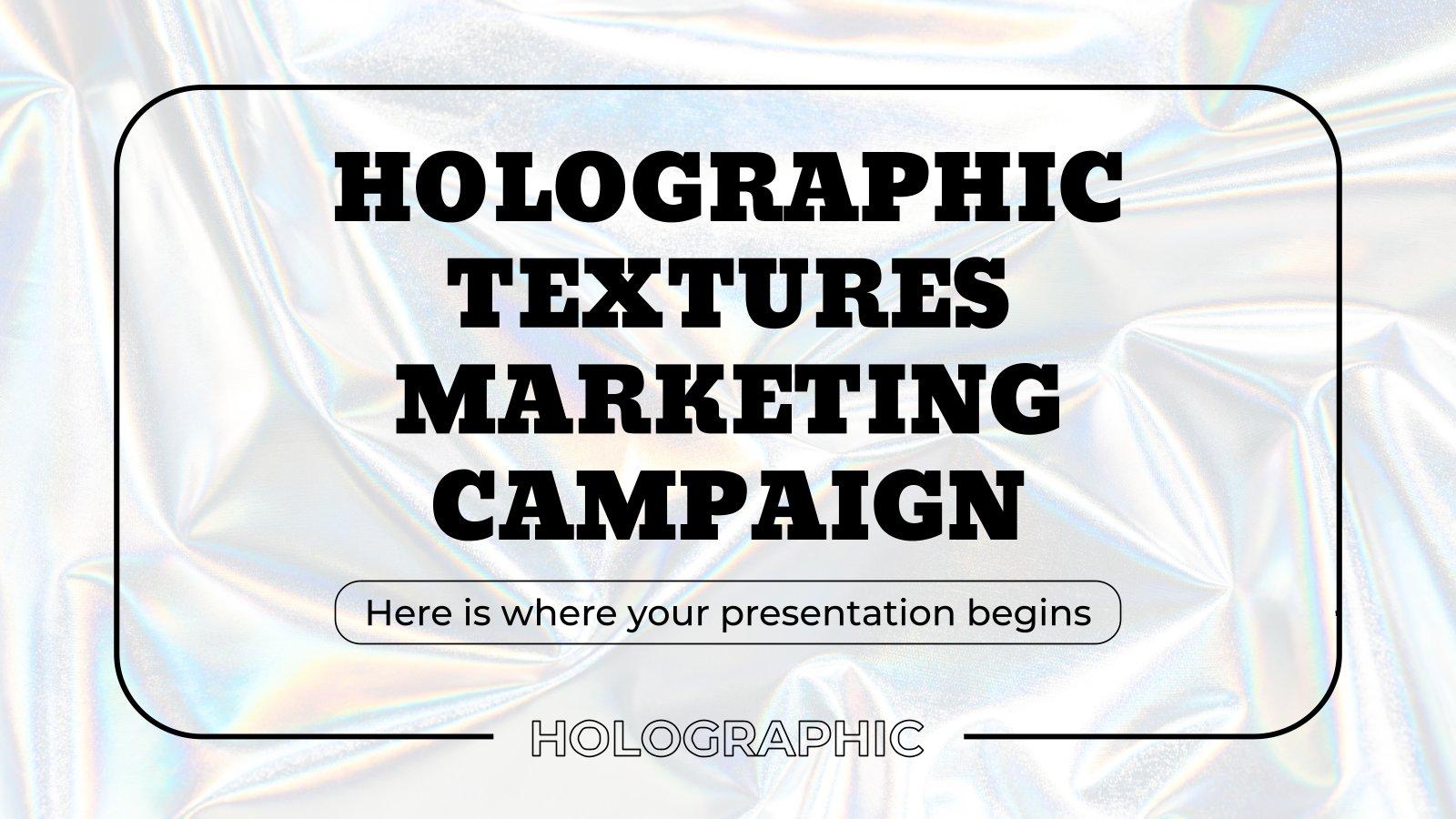 Plantilla de presentación Campaña de marketing con texturas