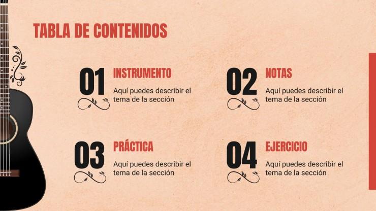 Clase de Guitarra Clásica Española Präsentationsvorlage