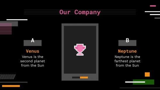 Plantilla de presentación App personalizada para linternas de móvil