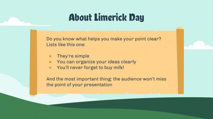 Limerick Day presentation template