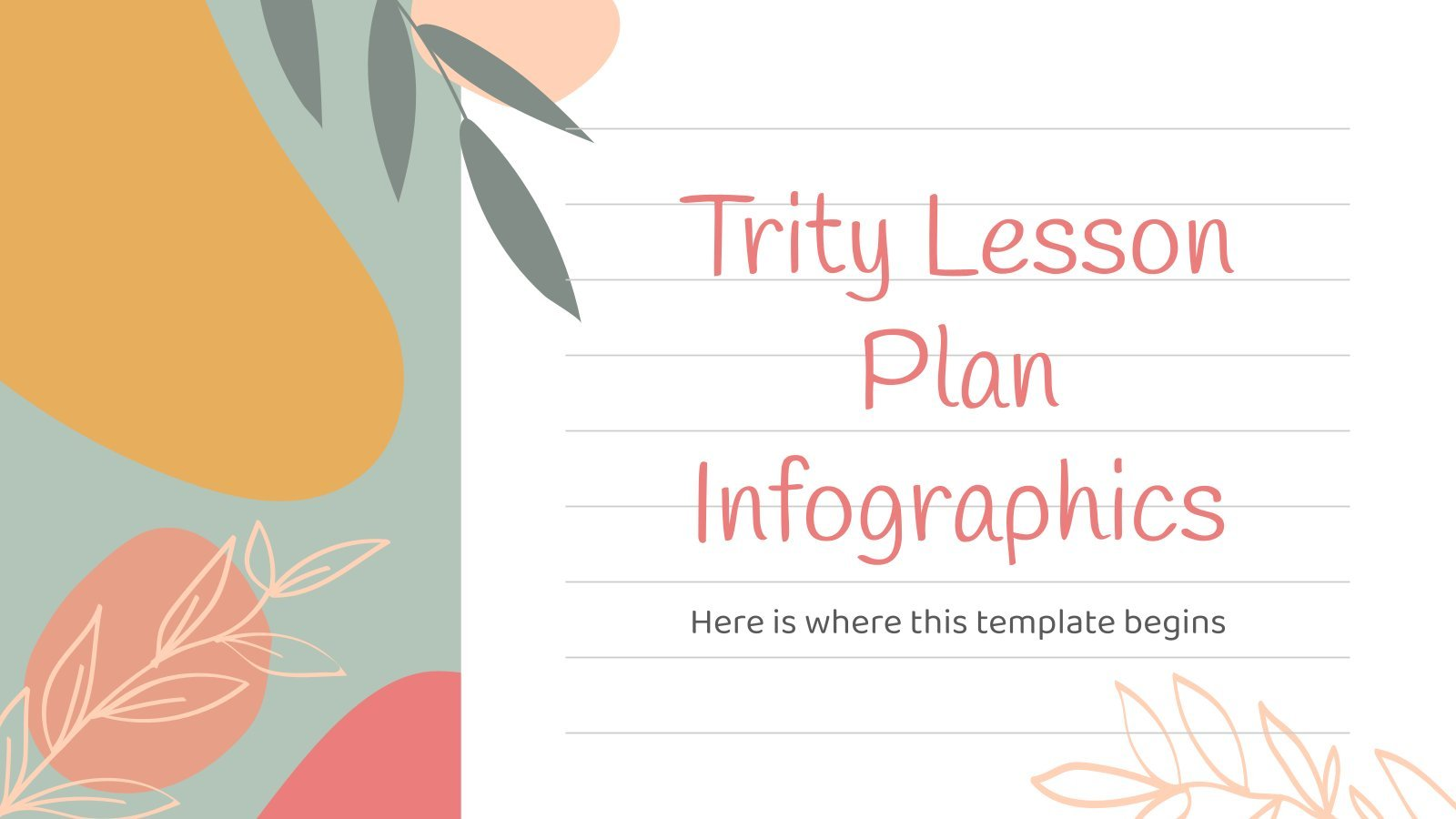 Trity Lesson Plan Infographics presentation template