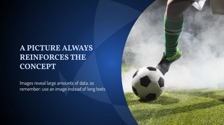 Plantilla de presentación La liga de fútbol definitiva