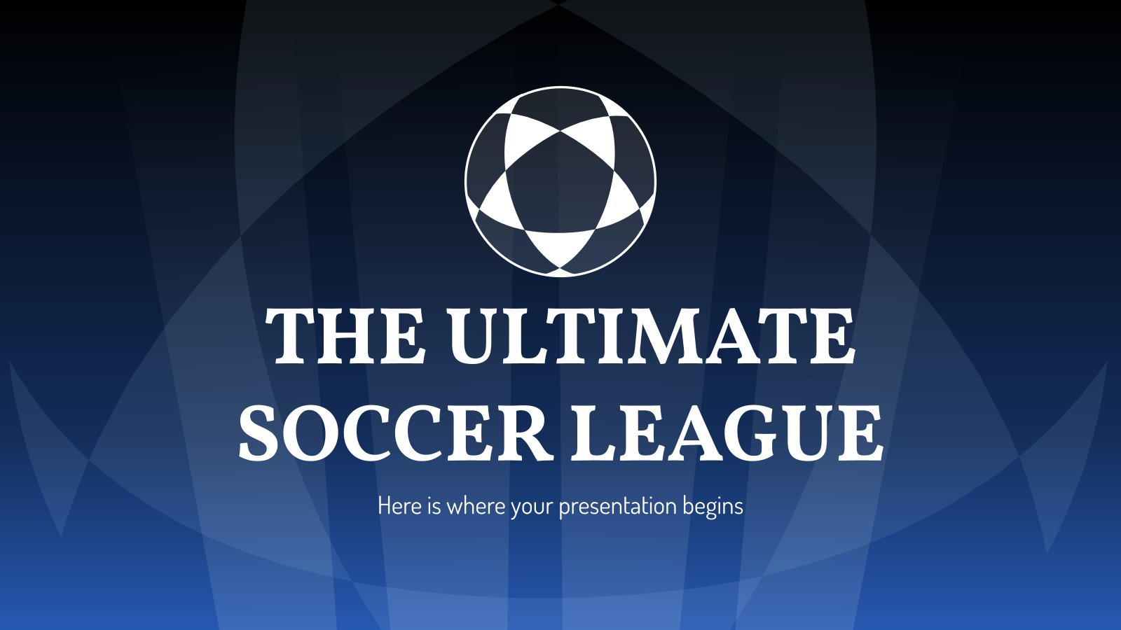The Ultimate Soccer League presentation template