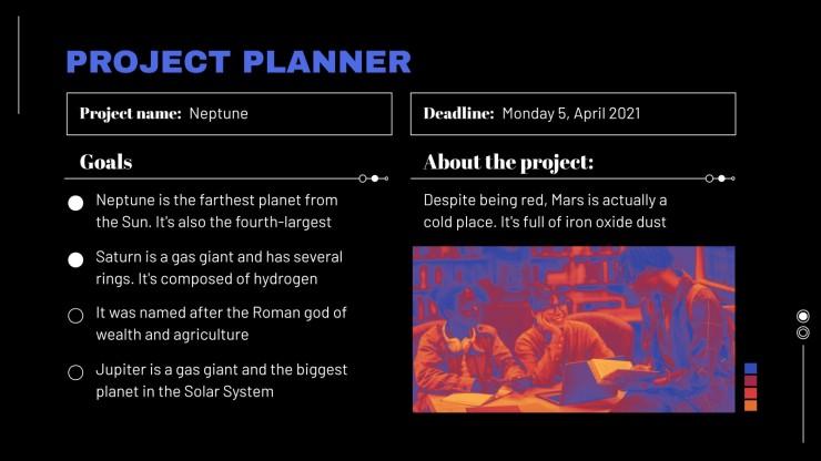 Plantilla de presentación Planificador de estilo de ondas cálidas para la universidad