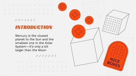 Pitch deck avec des boîtes 3D : Modèles de présentation