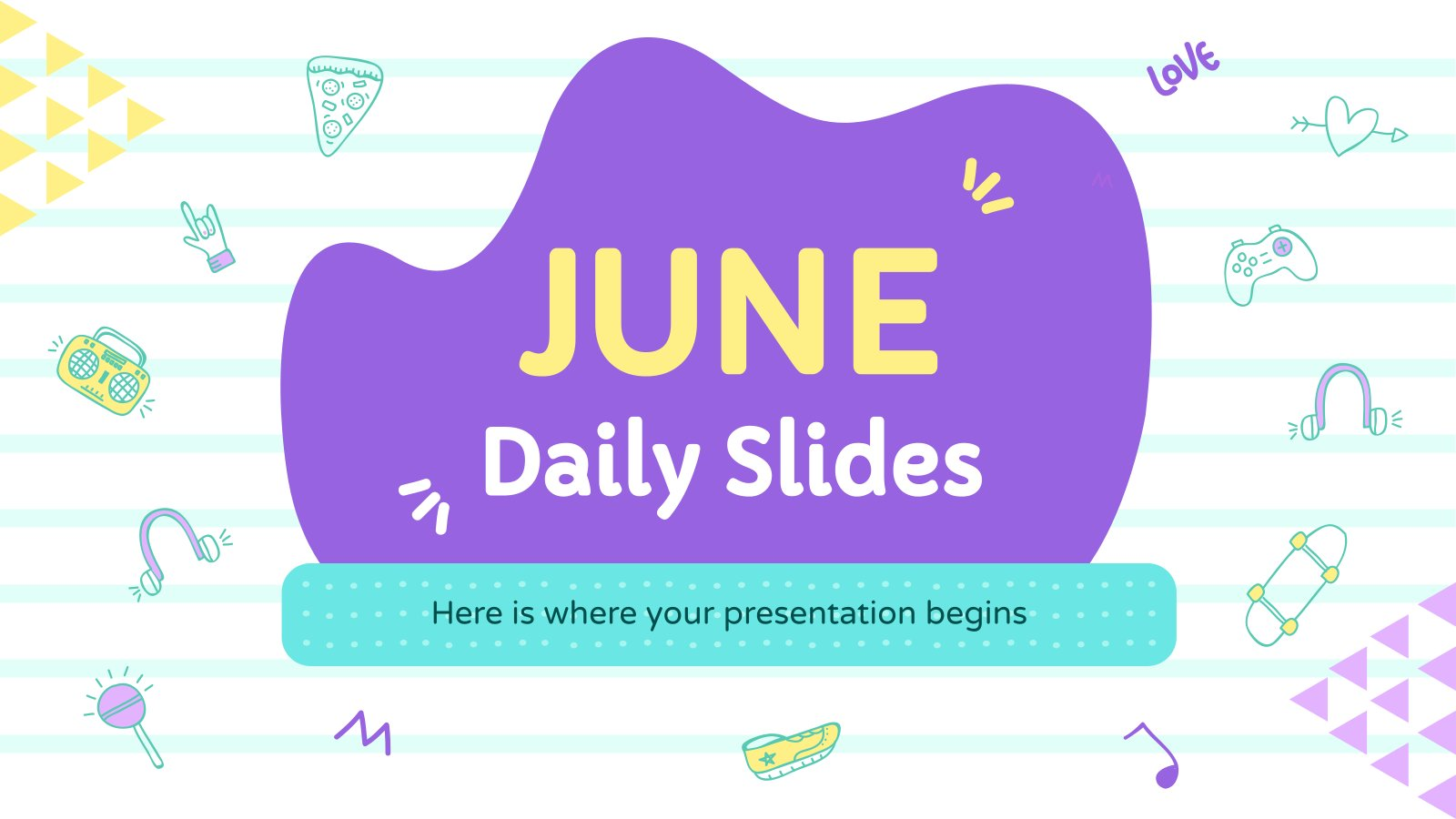 Plantilla de presentación Diapositivas diarias de junio