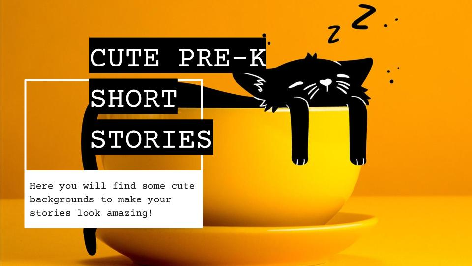 Cute Pre-K Short Stories presentation template