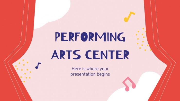 Centre des arts du spectacle : Modèles de présentation