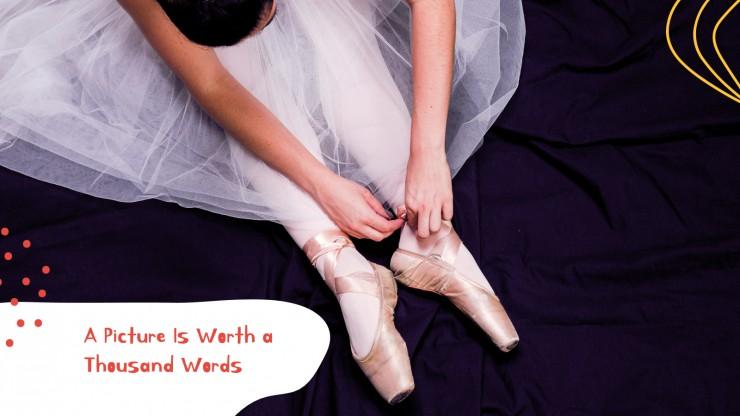 Modelo de apresentação Escola de teatro ou dança
