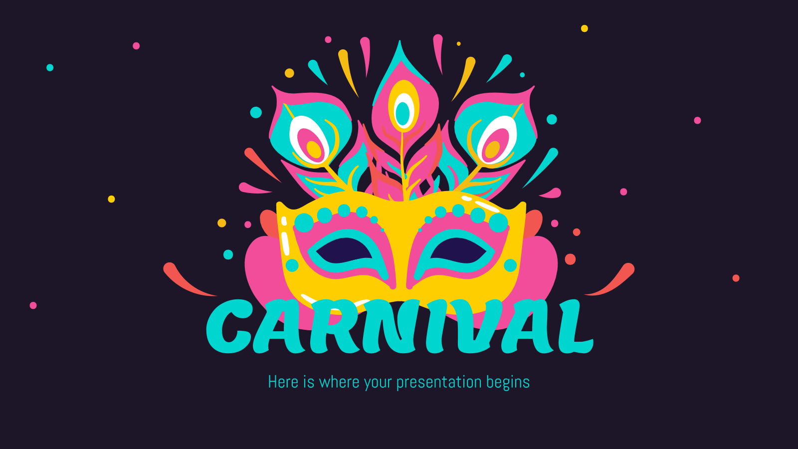 Colorful Carnival presentation template