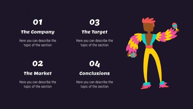 Carnaval coloré : Modèles de présentation