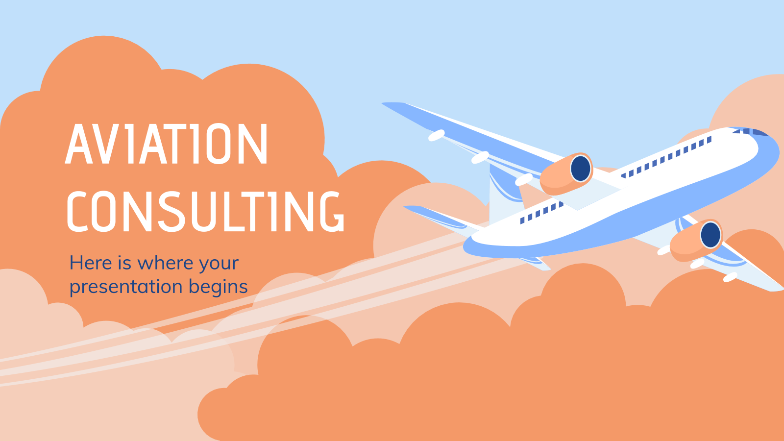 Aviation Consulting presentation template