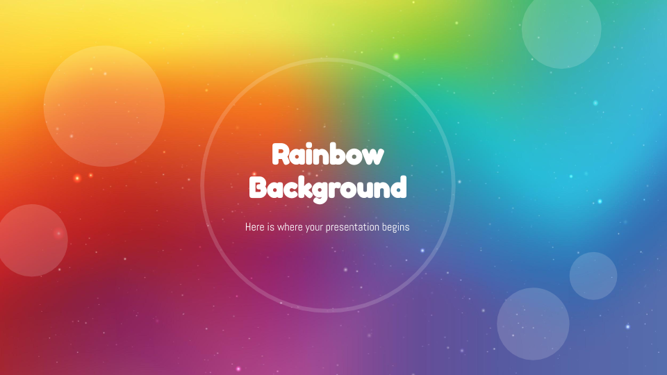 Rainbow Background presentation template