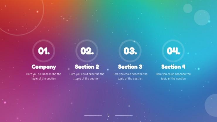 Modelo de apresentação Fundo de arco-íris