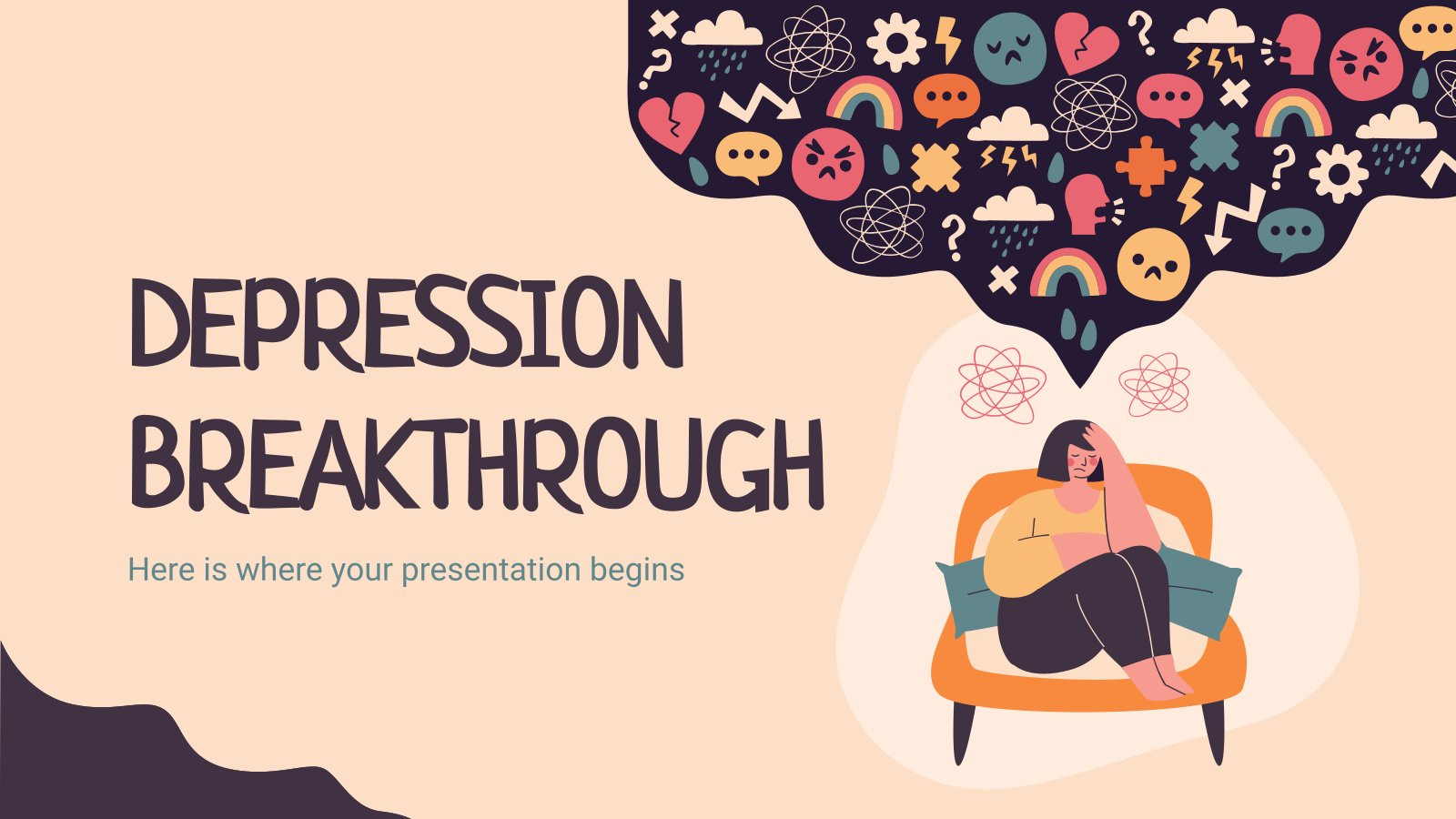 Depression Breakthrough presentation template