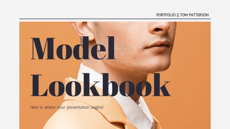 Modelo de apresentação Book de modelos