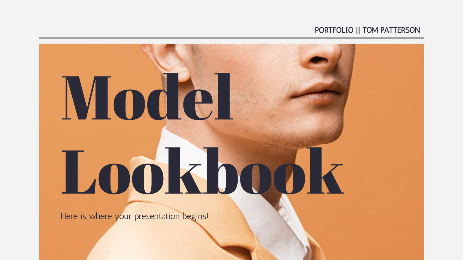 Model Lookbook presentation template