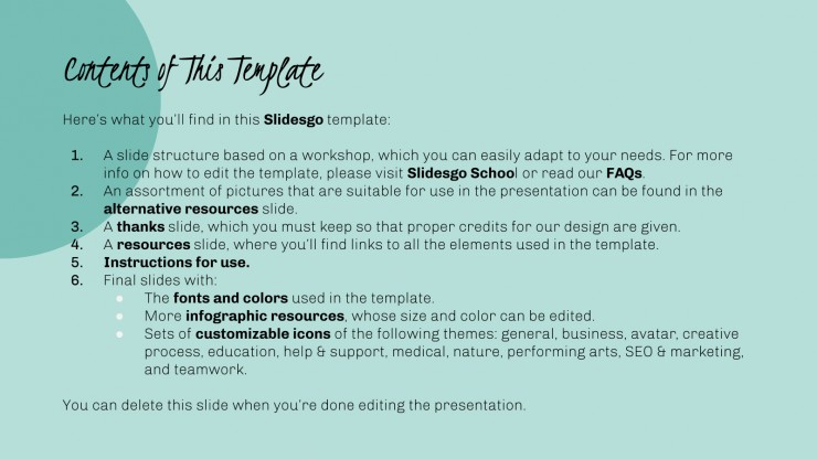 Poetry Workshop presentation template