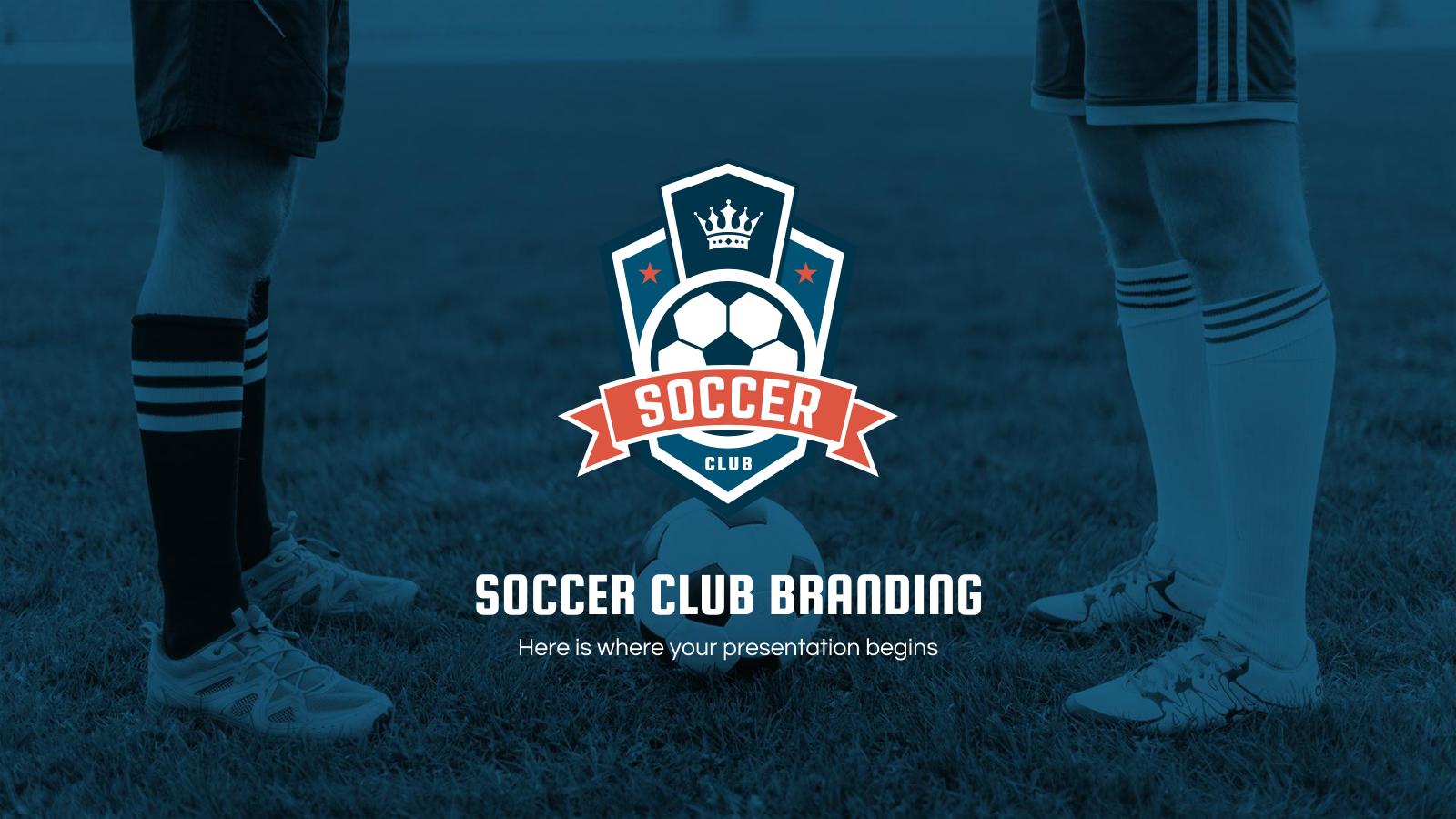 Plantilla de presentación Marca de club de fútbol