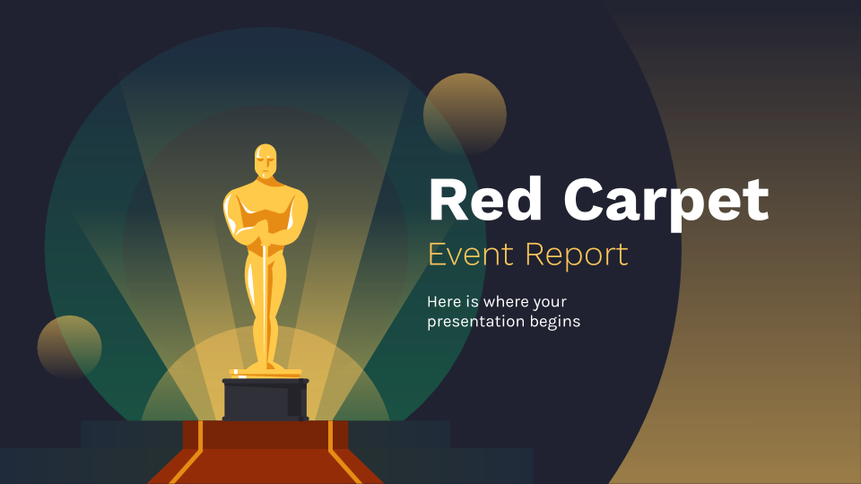 Red Carpet Event Report presentation template