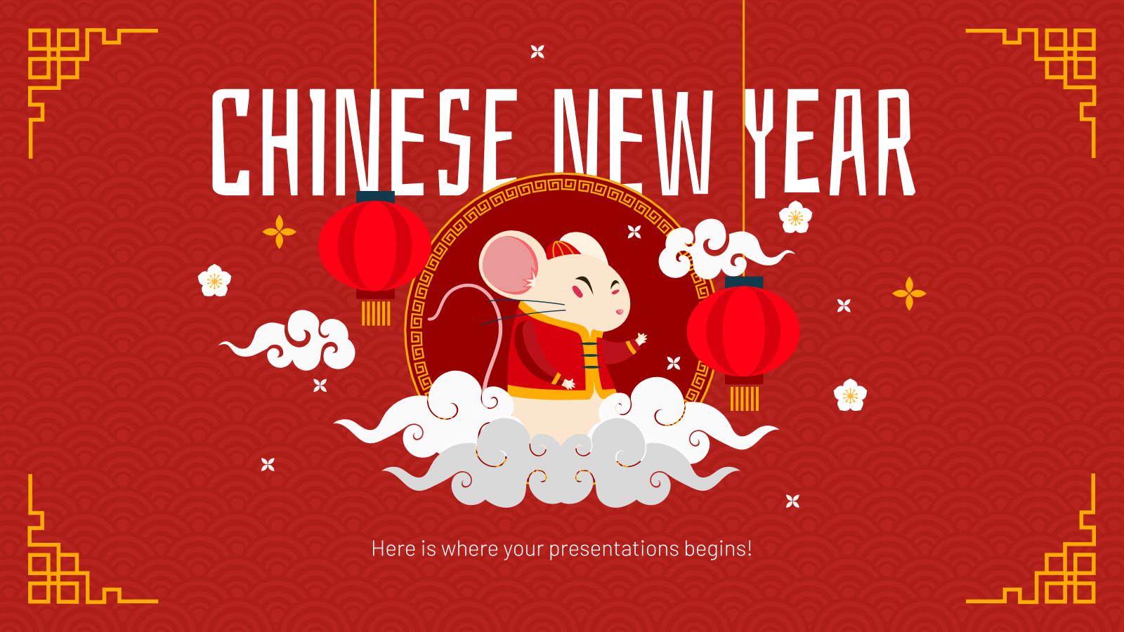 Chinese New Year presentation template