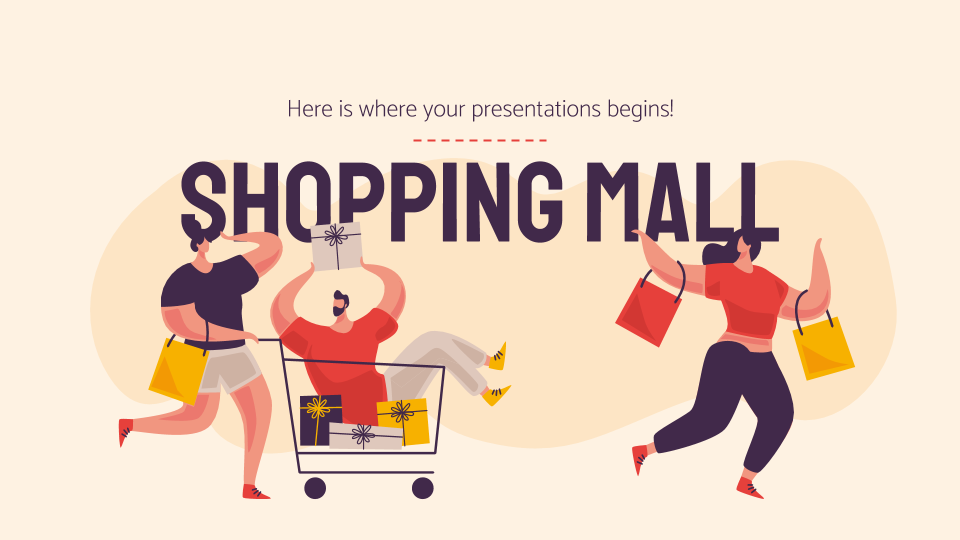 Shopping Mall presentation template