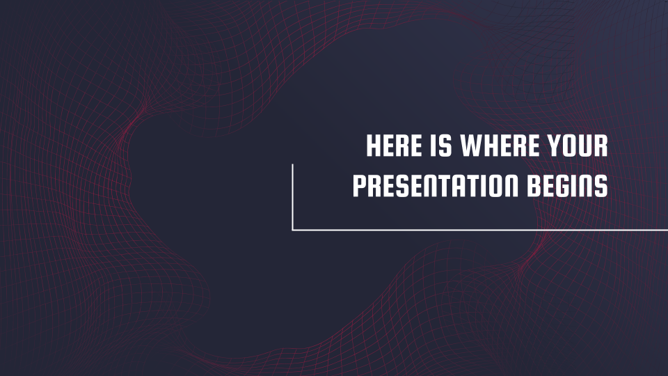 Data Waves presentation template