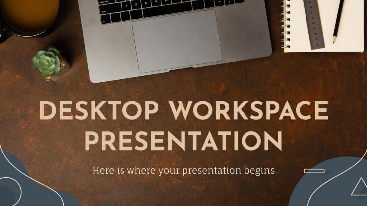 Modelo de apresentação Mesa do escritório