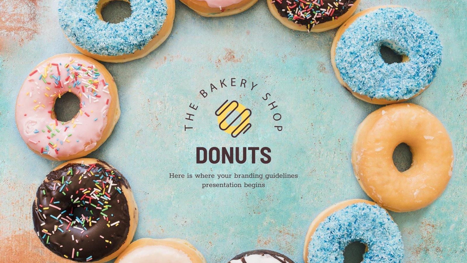 Donut Shop Branding presentation template