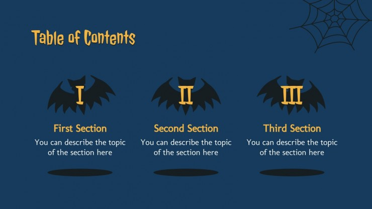 Plantilla de presentación Halloween terrorífico