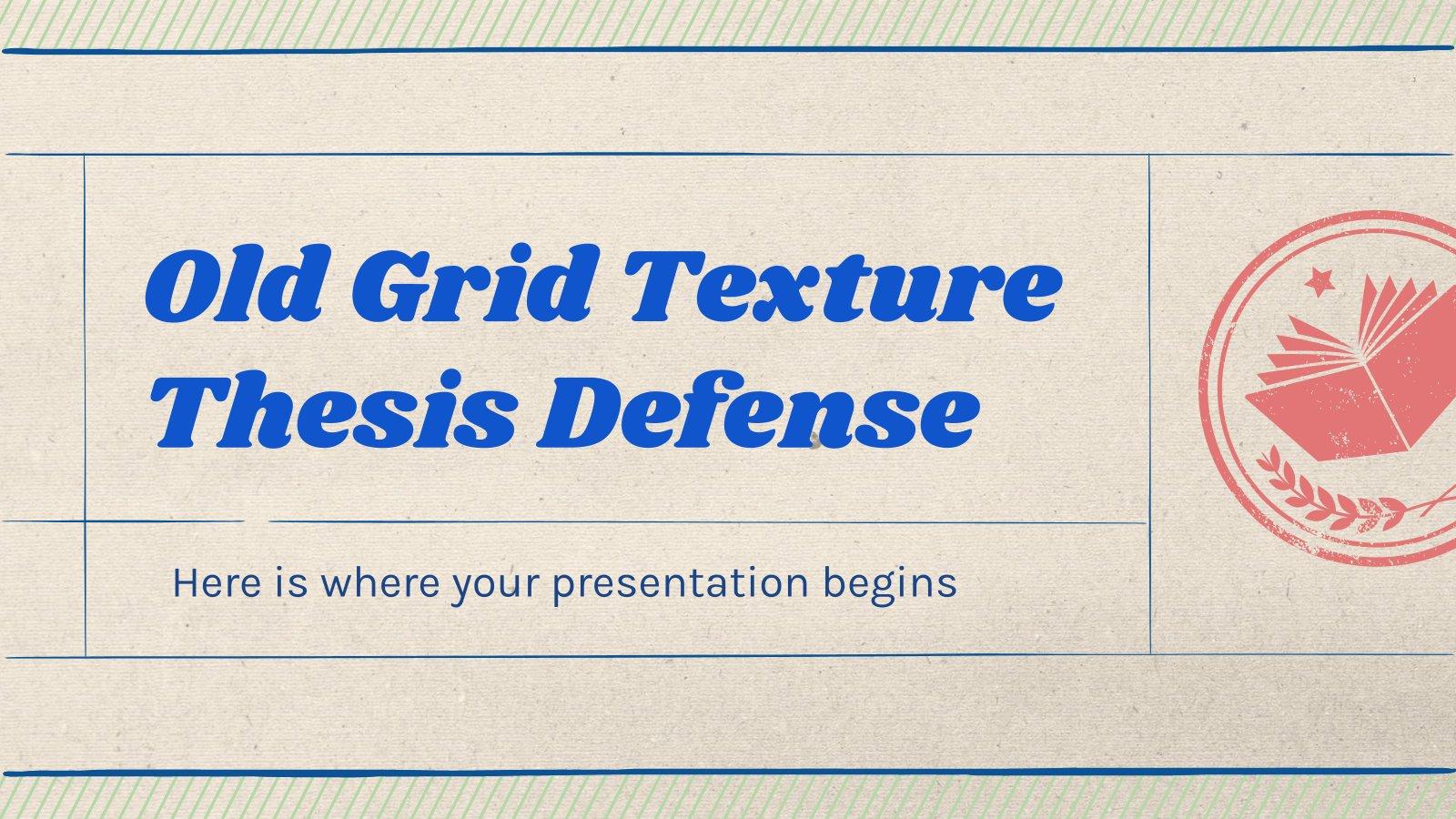 Plantilla de presentación Defensa de tesis con estilo vintage