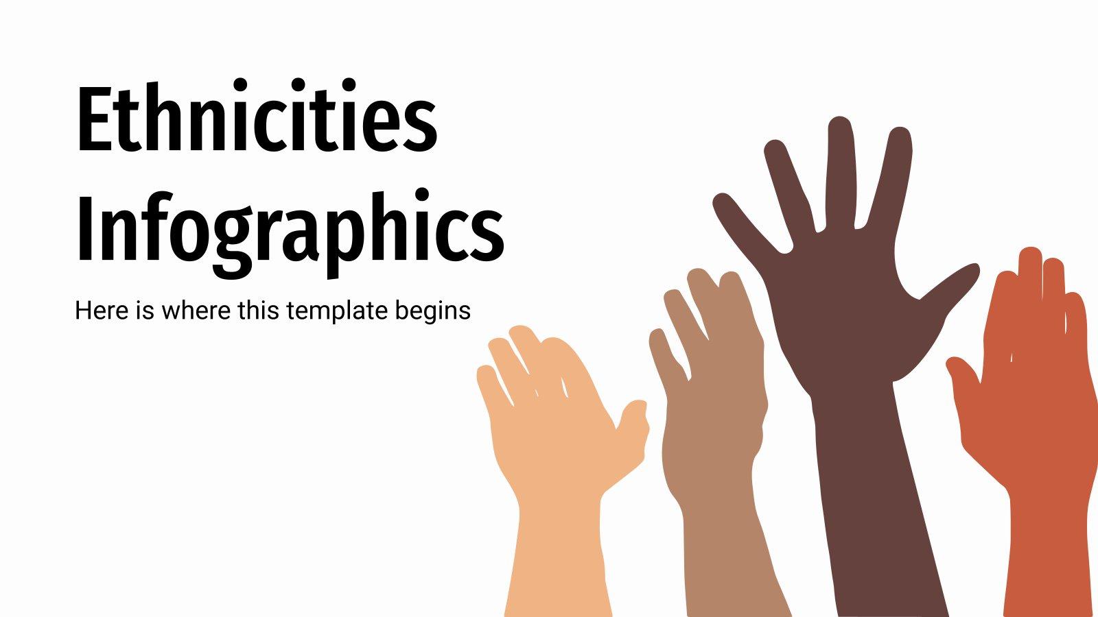 Plantilla de presentación Infografías sobre diversidad étnica