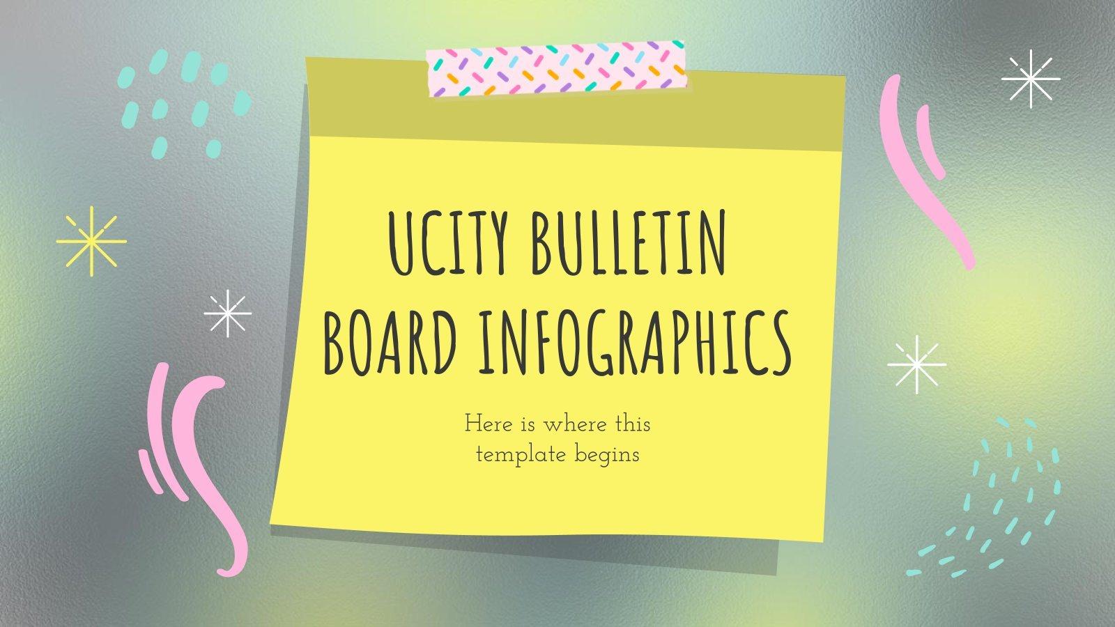Plantilla de presentación Infografías tablón de anuncios Ucity