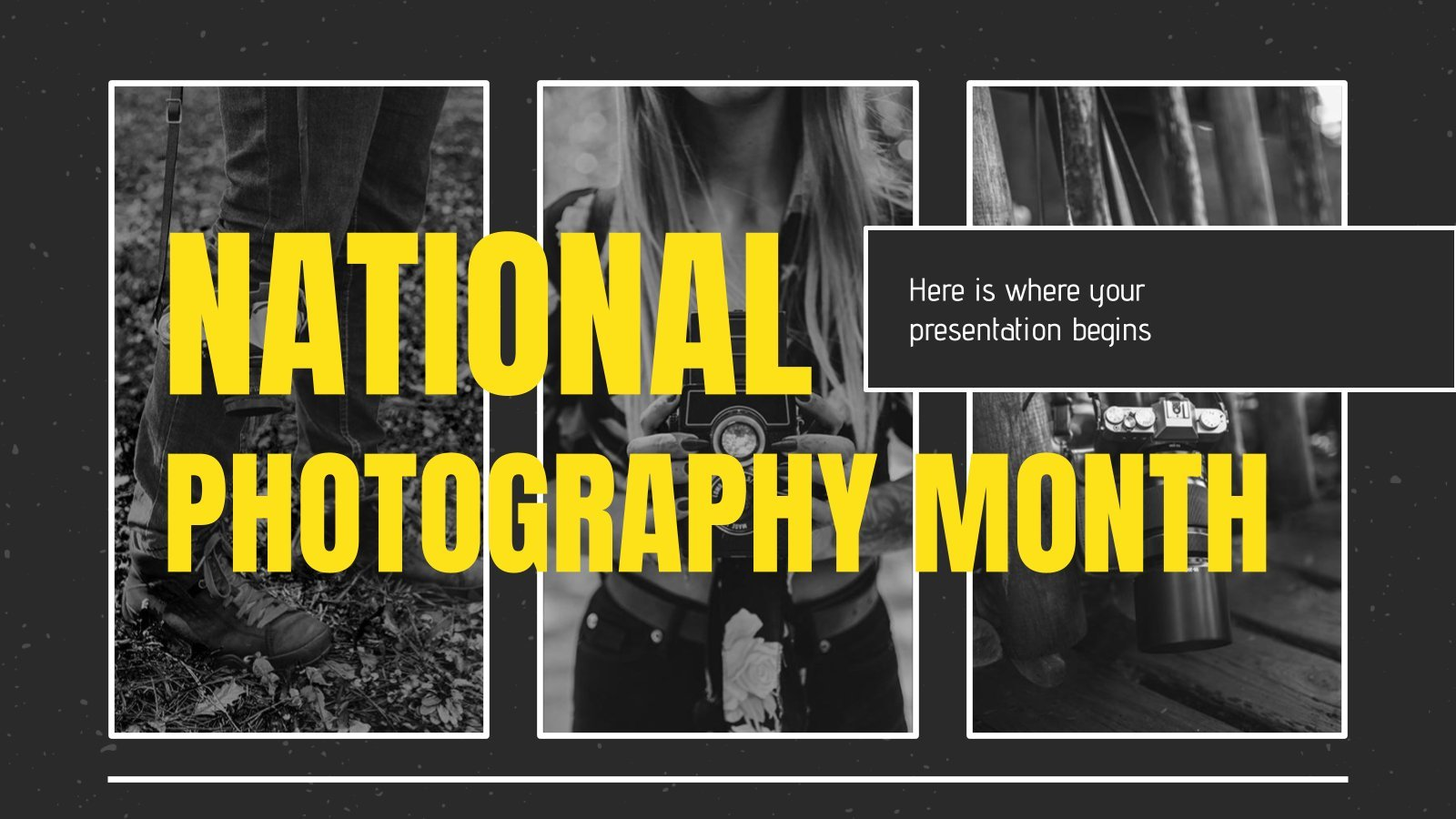 National Photography Month presentation template
