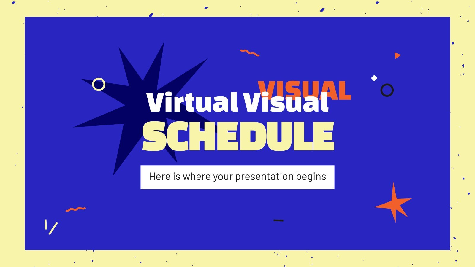 Virtual Visual Schedule presentation template