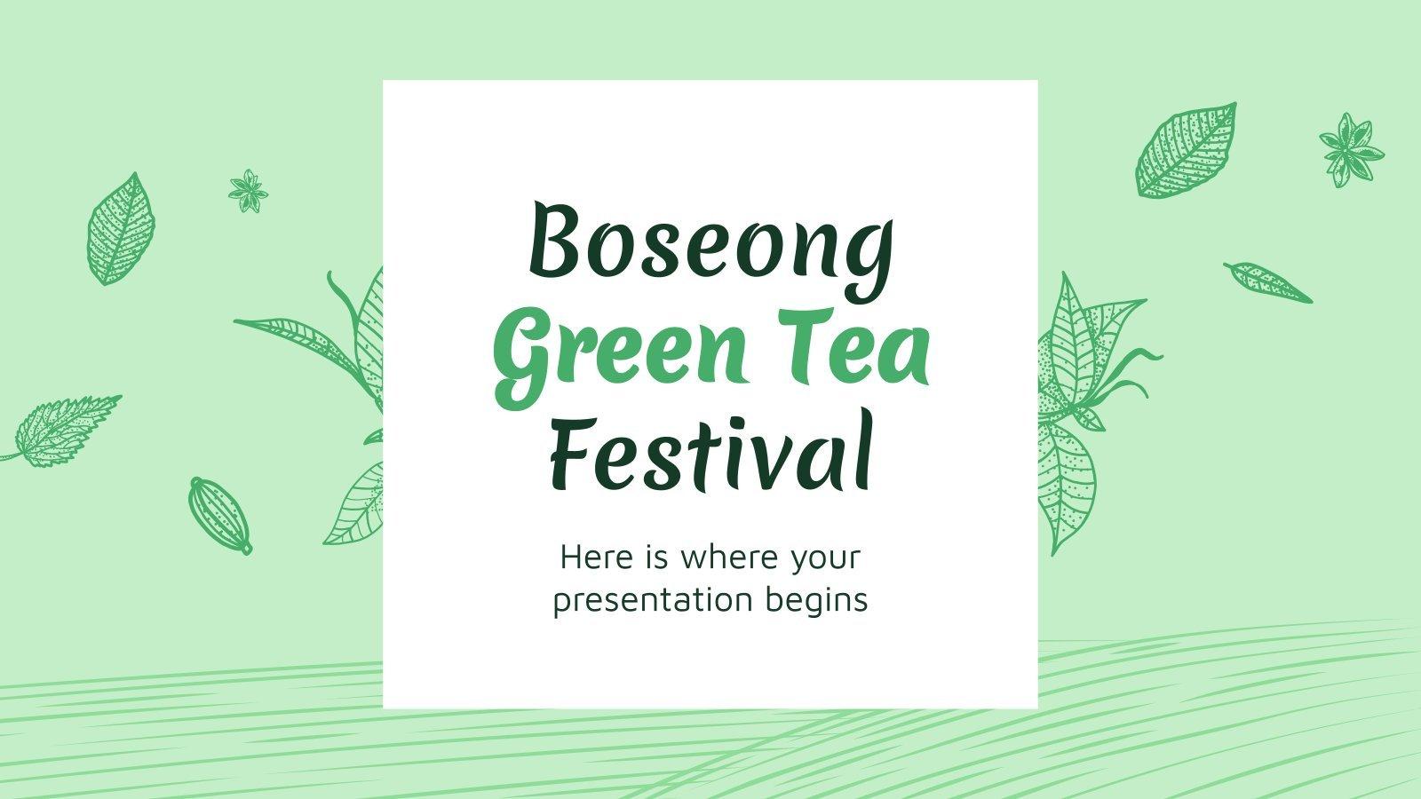 Modelo de apresentação Festival do Chá Verde de Boseong