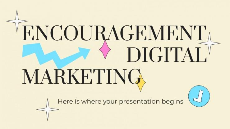 Plantilla de presentación Marketing digital de estímulo