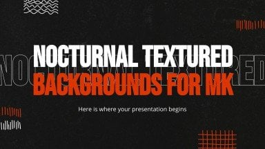 Nocturnal Textured Backgrounds for MK presentation template