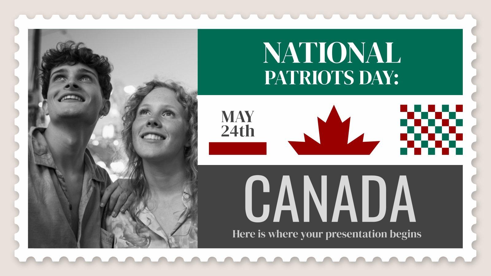 National Patriots Day: Canada presentation template