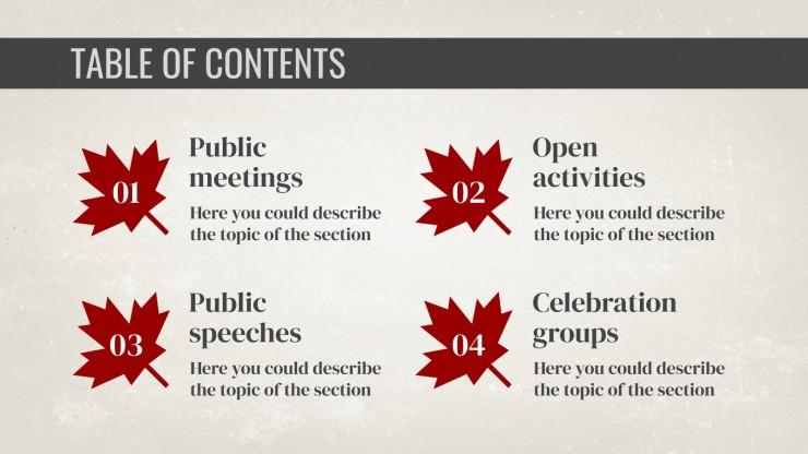 Plantilla de presentación Día nacional de los patriotas: Canadá