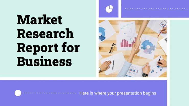 Market Research Report for Business presentation template