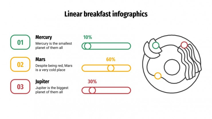 Linear Breakfast Infographics presentation template