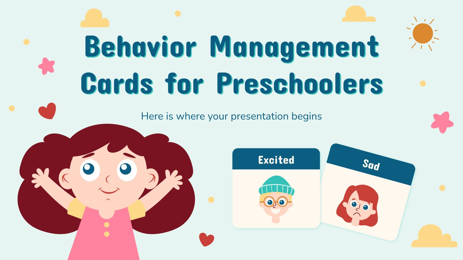 Behavior Management Cards for Preschoolers presentation template