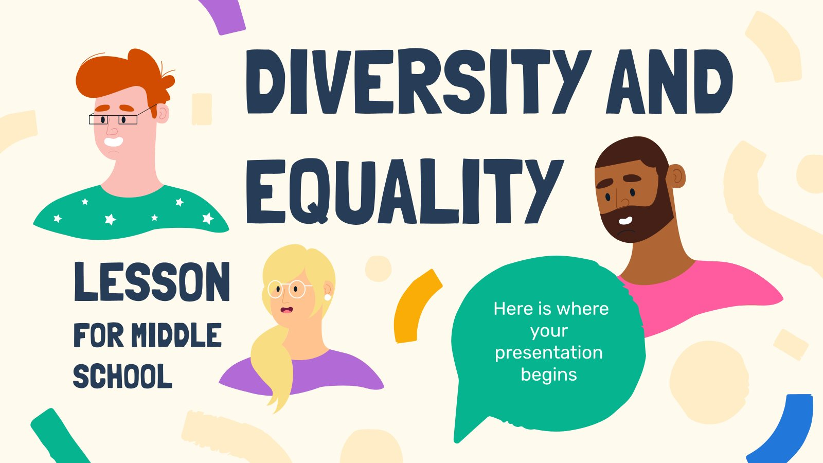 Diversity and Equality Lesson for Middle School presentation template