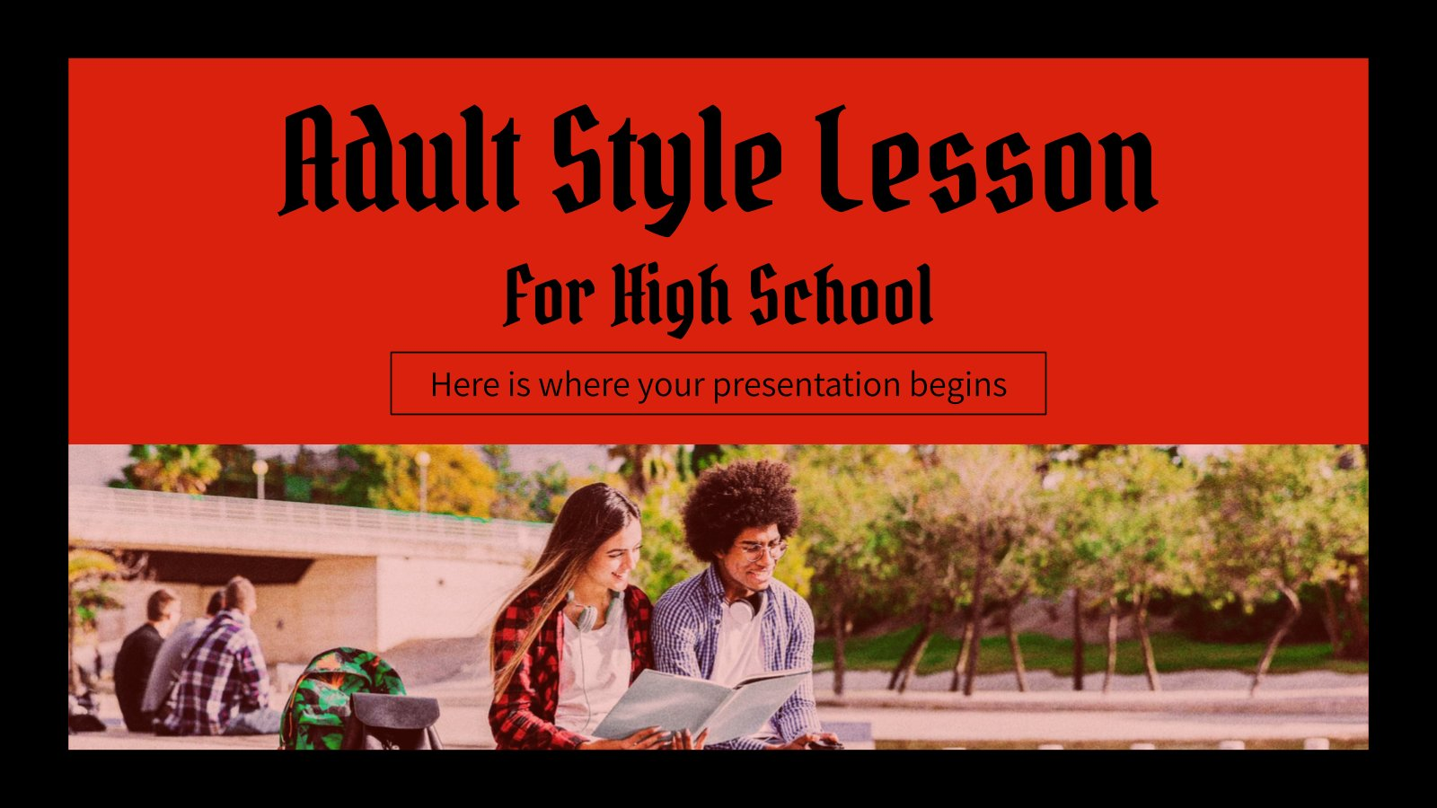 Adult Style Lesson for High School presentation template