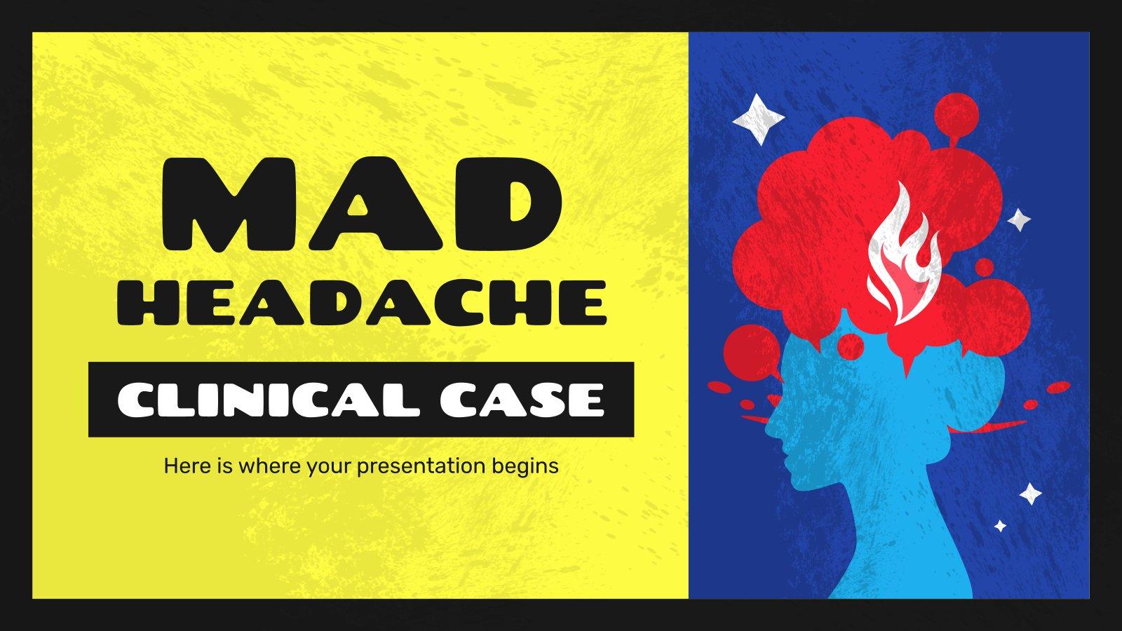 Kopfschmerzen Klinischer Fall Präsentationsvorlage