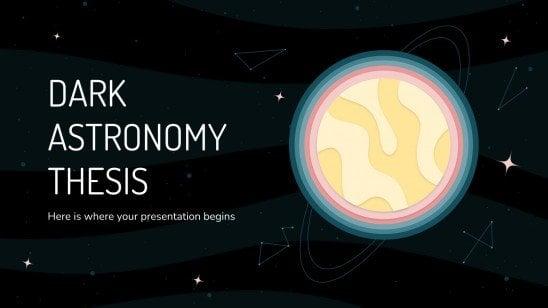 Thèse d'astronomie avec des couleurs sombres : Modèles de présentation
