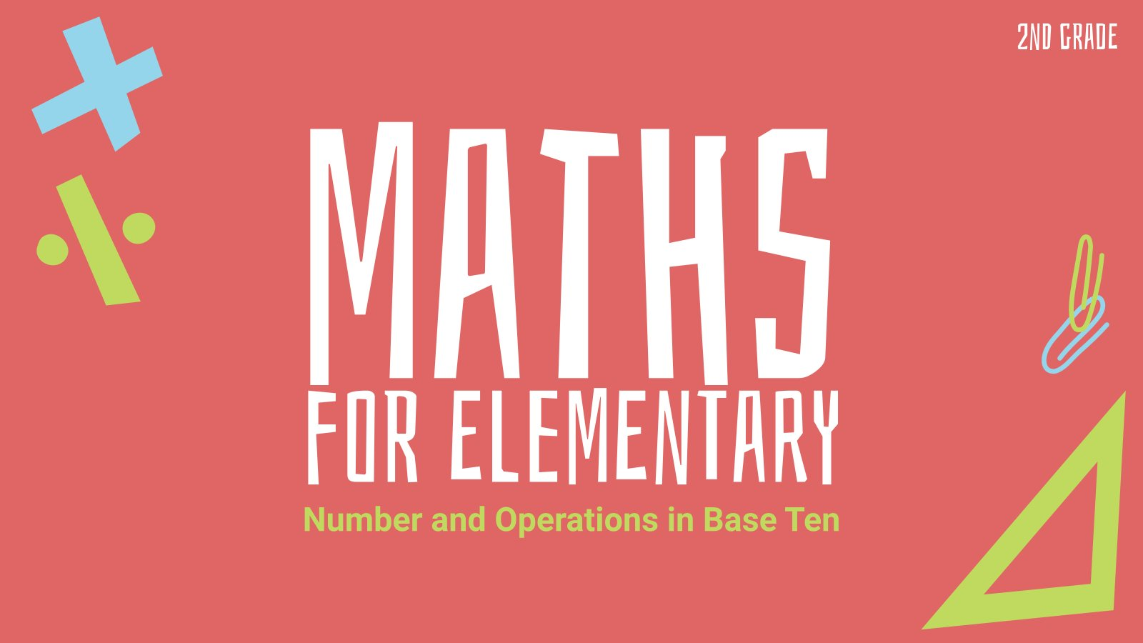 Plantilla de presentación Números y operaciones en base diez - Matemáticas para Primaria