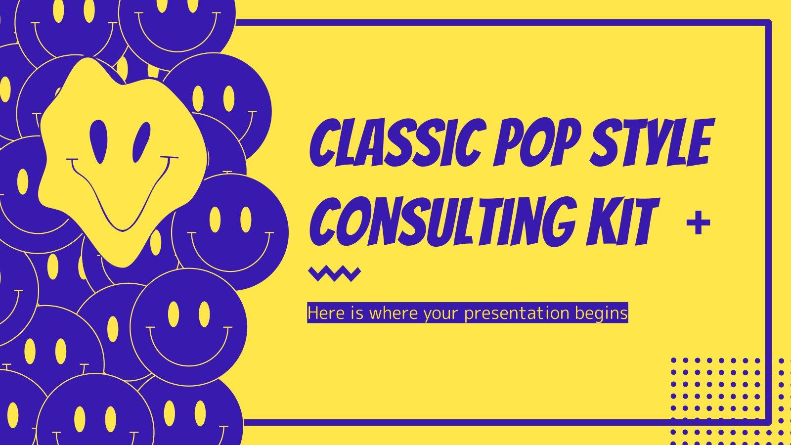 Modelo de apresentação Kit de consultoria em estilo pop clássico